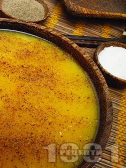 Тур дал - супа от червена (оранжева) леща, картофи, сметана и куркума по индийски - снимка на рецептата